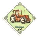 Sellos de Asia - Mongolia -  Tractores. Renault  TX-145-14. Francia.