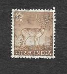Stamps : Asia : India :  Ciervo Moteado