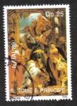 Stamps Africa - São Tomé and Príncipe -  Navidad de 1989