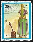 Stamps : Asia : United_Arab_Emirates :  Ropas femeninas orientales