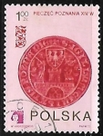 Sellos del Mundo : Europa : Polonia : Arms of Poznan on 14th century seal