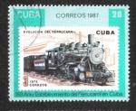 Stamps : America : Cuba :  Ferrocarriles cubanos, 150 aniversario.