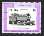 Sellos de America - Cuba -  Ferrocarriles cubanos, 150 aniversario.