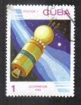 """Stamps : America : Cuba :  Día del Espacio, Nave espacial """"Vostok"""" (URSS), 1961"""