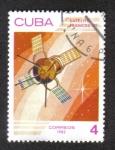 """Stamps : America : Cuba :  Día del Espacio, Satélite """"D-1"""" (Francia), 1966"""