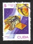 """Stamps : America : Cuba :  Día del Espacio, Nave espacial """"Marte-2"""" (URSS), 1971"""
