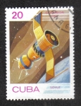 """Stamps : America : Cuba :  Día del Espacio, Nave espacial """"Soyuz"""" (URSS)"""