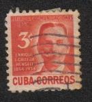 Stamps : America : Cuba :  Fondo de Pensiones de la Función Pública.Enrique Calleja Hensell