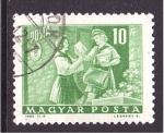 de Europa - Hungría -  mujer cartero