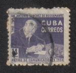 Stamps America - Cuba -  Fondo de jubilación para empleados de correos.Antonio Sanchez de Bustamante (1865-1951)