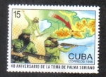 Stamps : America : Cuba :  Batalla por palma soriano 40 aniversario.