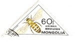 Stamps Mongolia -  Insectos. Correo aereo. Abeja.