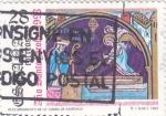 Stamps : Europe : Spain :  DESCUBRIMIENTO DE LA TUMBA DE SANTIAGO (36)
