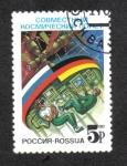 de Europa - Rusia -  Vuelo espacial conjunto Rusia-Alemania.