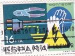 Stamps : Europe : Spain :  RIESGO DE LA ELECTRICIDAD(36)
