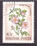 de Europa - Hungría -  serie- flores