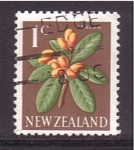 Stamps Oceania - New Zealand -  serie- flores