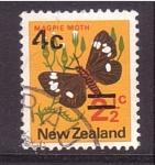 Sellos de Oceania - Nueva Zelanda -  serie- polillas