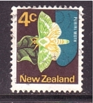 Stamps Oceania - New Zealand -  serie- polillas