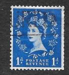 Stamps United Kingdom -  293 - Isabel II