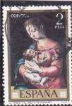 Stamps Europe - Spain -  LA VIRGEN Y EL NIÑO (Morales)(36)