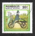 Stamps : Asia : Mongolia :  Historia de la Bicicleta, Draisine 1816