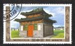 Sellos de Asia - Mongolia -  Arquitectura, Edificio Tradicional