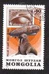 Stamps : Asia : Mongolia :  Vuelo polar de Graf Zeppelin, 50 aniversario. Morsa (Odobenus rosmarus)