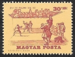 Stamps Hungary -  1734 - Historia del tenis