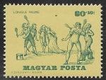 Sellos de Europa - Hungría -  1736 - Historia del tenis
