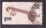 Stamps India -  instrumento musical