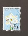 Stamps Africa - Benin -  Flor Narcissus