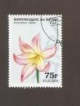 Stamps Africa - Benin -  Flor Amaryllis