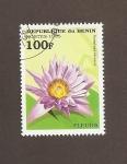 Stamps Benin -  Flor Nymphaea