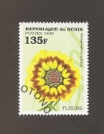 sellos de Africa - Benin -  Flor Chrysanthemum