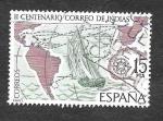 Stamps Spain -  Edf 2437 - II Centenario del Correo de Indias