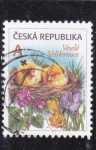 Stamps : Europe : Czech_Republic :  flores y pájaros