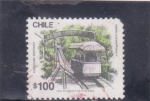 Stamps : America : Chile :  funicular Santiago