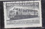 de America - Argentina -  centenario de los ferrocarriles argentinos