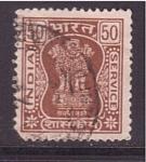 sellos de Asia - India -  pilar ciudad Asoka