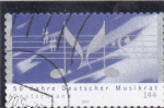 Sellos de Europa - Alemania -  50 aniversario de Musikrat -Alemania