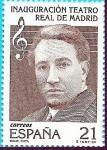 Stamps Europe - Spain -  Inauguración del Teatro Real - Madrid - Miguel Fleta