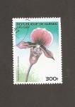 Stamps Guinea -  Flor Paphiopedilum harrisianum