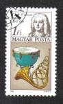 Sellos del Mundo : Europa : Hungría : Año Internacional de la Música.George Frideric Handel