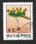 sellos de Europa - Hungría -  Juguetes Aniguos, Picoteando pollos