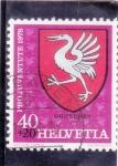 Sellos del Mundo : Europa : Suiza :  escudo de Gruyeres