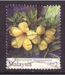 Sellos de Asia - Malasia -  serie- Flores
