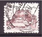 sellos de Asia - Pakistán -  serie- fortalezas