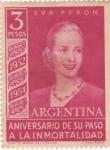 Stamps Argentina -  Eva Perón aniversario de su apso a la inmortalidad