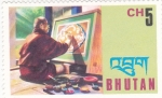 Stamps : Asia : Bhutan :  Pintor
